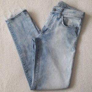 American Eagle acid wash skinny jeans